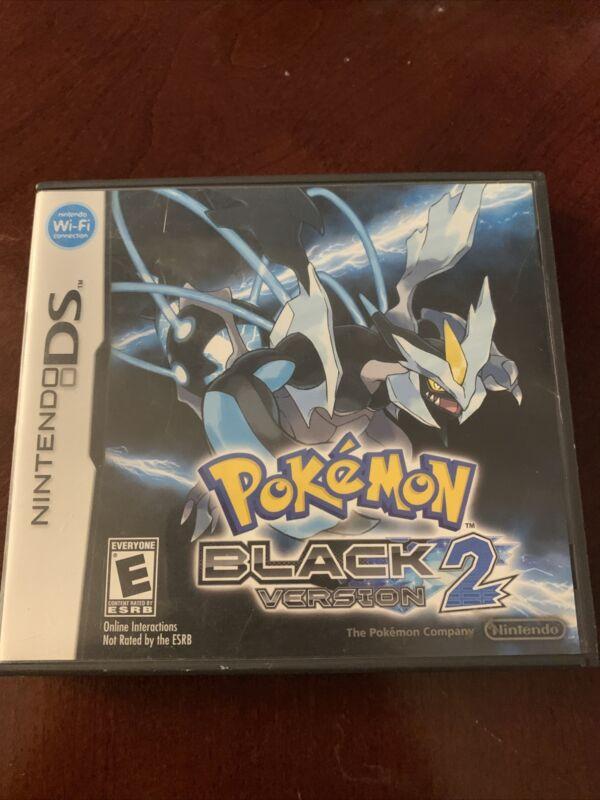 Pokemon Black Version 2 Nintendo DS Case Only (NO GAME)  Genuine
