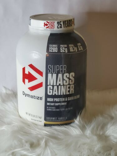 Dymatize Super Mass Gainer Protein Powder, Gourmet Vanilla,