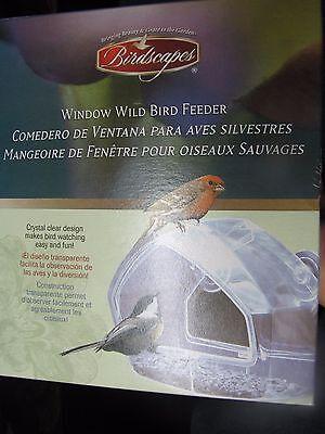 Birdscapes Wild Bird Window Feeder #348  Watch the birds eat from inside  NEW