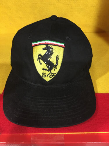 1995 FERRARI HAT BY CERRUTI WITH REAL LOGO DONE BY HAND EMBROIDERY ONE AT A TIME