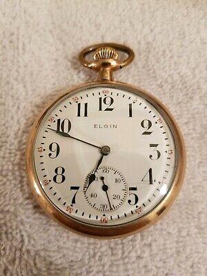 Elgin Gold 1913 Pocket Watch, 7J