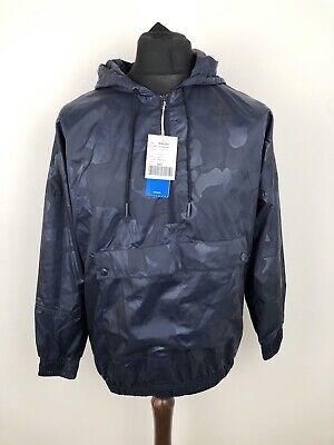 Adidas Originals Seoul Blue Camo Pullover Half Zip Windbreaker Jacket Size UK 10