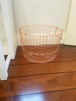 Copper rose gold basket Other Home Decor Gumtree Australia