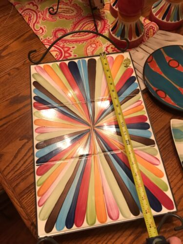 Gail Pittman Pottery Large serving Tray Tango. Hard to find