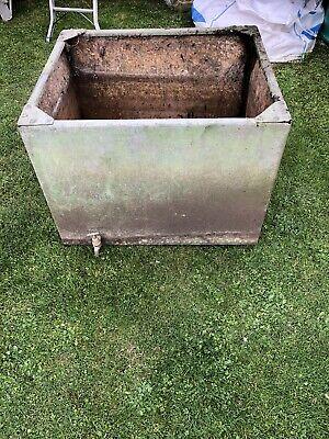 Vintage Galvanised Steel Water Tank With Studs
