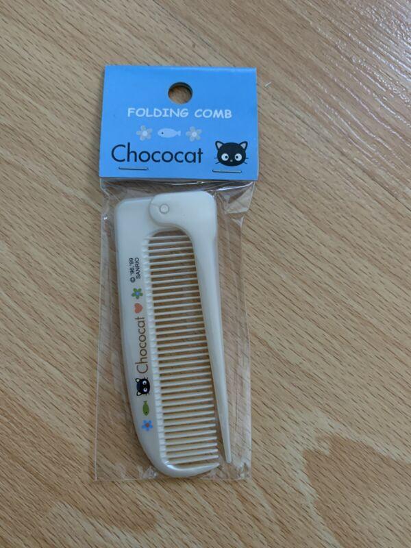 Sanrio Vintage 1999 Chococat Beige Brown Folding Comb Trinket Plush