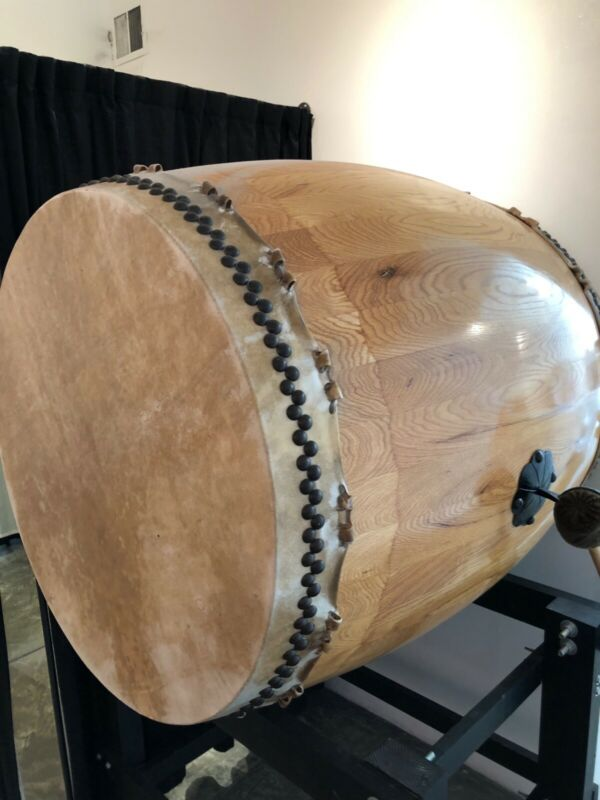 Taiko Odaiko Drum. 500 Lb. Monster With Stand.