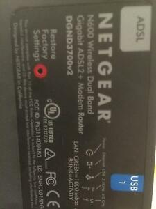 The Netgear  N600 DGND3700 v2 Wireless Dual Band Moderm Router Angle Park Port Adelaide Area Preview