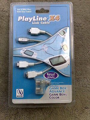 Game Boy Advance & Game Boy Color Play Line X 4 Link...