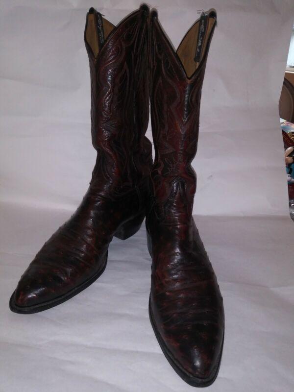 Tony, Lama, Full, Quill, Ostrich, Mens, Cowboy, Boots, size, 10