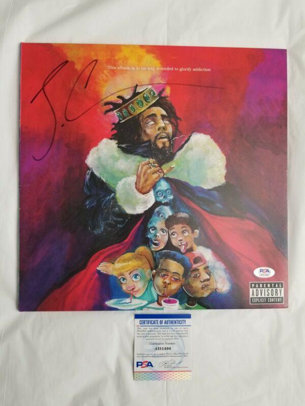 J Cole Signed KOD Vinyl w/ PSA COA Autographed Rap Hip Hop Music Album Grammy