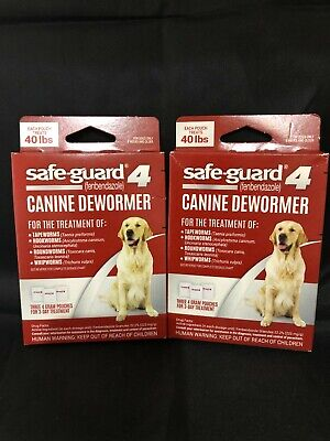 2 Boxes Safe-Guard Canine Dewormer for Large Dogs, 3 Day