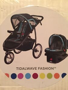 Graco Jogging Stroller And SnugRide Click Connect Car Seat