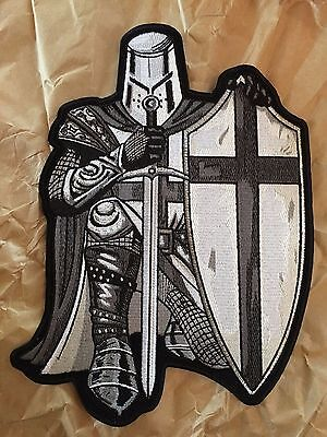 Black Crusader Knight Back Patch