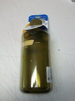 1 Nalgene Narrow Mouth 32oz Loop Top Water Bottle Olive w/Brown Lid BPA covid 19 (Nalgene Narrow Mouth Loop Top coronavirus)
