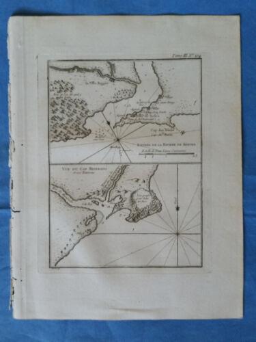 Cape Montserrado, River Cess, Liberia - Bellin, 1764