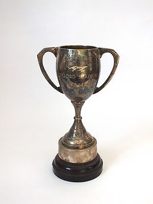 VINTAGE SILVER PLATED GREYHOUND Racing  TROPHY Oxford Stadium