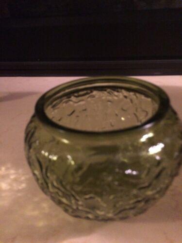 Vintage EO Brody Green Glass Vase/Bowl G107 - $6.99