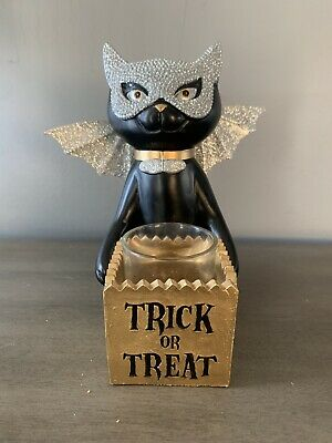 Yankee Candle Sophia the Cat Trick or Treat votive/tea light candle holder