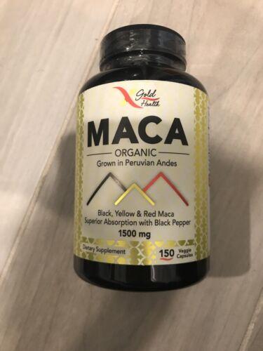 organic maca 1500mg 150 capsules