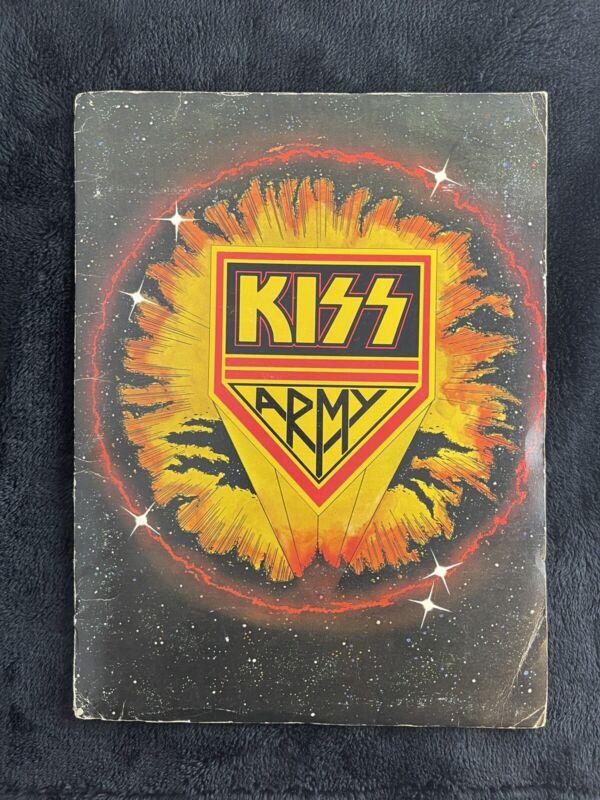 🔥Vintage KISS ARMY KIT SOLO ALBUM FOLDER 1978 AUCOIN RARE!