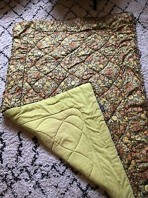 Gorgeous Small  Vintage  Floral/Check Quilt/Bed/Cot Cover