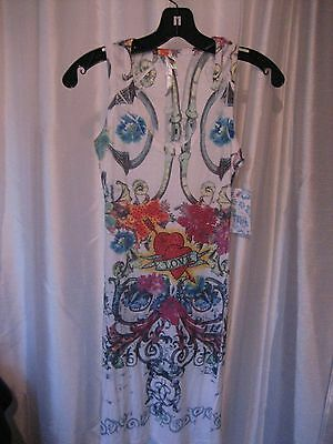 Ocean Breeze Junior Size Multi-Color Love Sundress Sz M NWWT 98% Polyester for sale  Shipping to India