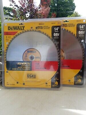 2packdewalt Dwa7747 14 66t Heavy Gauge Ferrous Metal Cutting Saw Blades