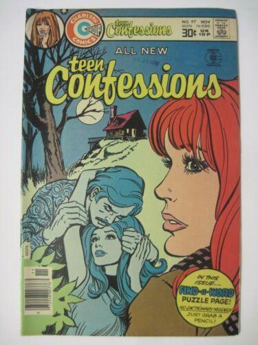 TEEN CONFESSIONS #97 November 1976 CHARLTON COMICS ROMANCE