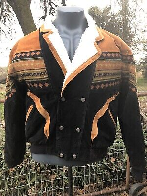 """""""Em And 4u""""Of California Best Genuine Suede Leather Jacket Aztec Indian"""
