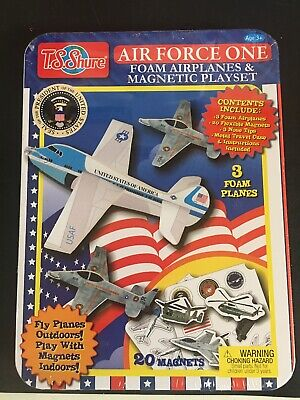 TS Shure Air Force One Foam Airplanes & Magnetic Playset Presidential Planes NEW
