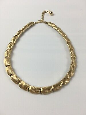 60s -70s Jewelry – Necklaces, Earrings, Rings, Bracelets Vintage Women's Gold Plated Necklace by TRIFARI, Signed 1960s  $138.20 AT vintagedancer.com
