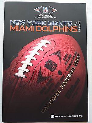 New York Giants v Miami Dolphins at Wembley 28/10/2007 & towel CHEAPEST ON EBAY