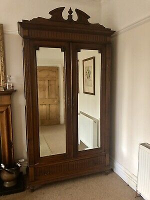 Beautiful Original French Armoire With Glazed Doors