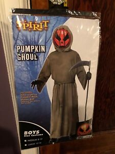 Halloween Kids Costume- Pumpkin Ghoul size medium