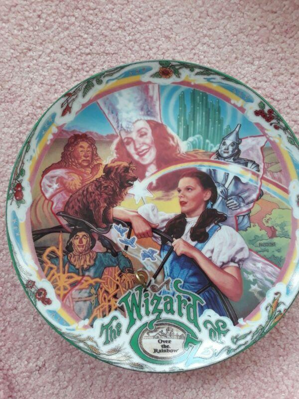 Wizard of Oz Bradford Exchange Musical Plate Over the Rainbow Vintage 1993 COA