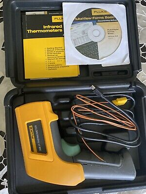 Fluke 568 Ir Handheld Thermometer Infrared With Temp Probe And Case Lcd Display
