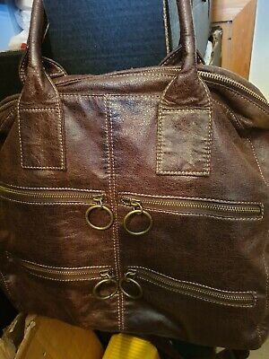 Ladies Vintage Style Brown Handbag Fab Condition