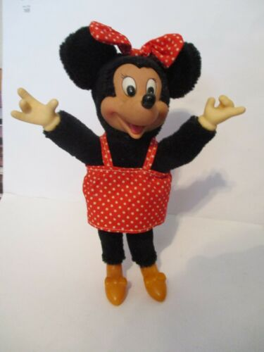 Applause Classic Minnie Mouse 8-inch Plush Figure with plastic face & hands
