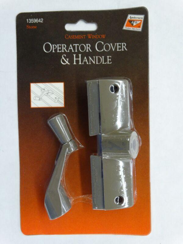 Andersen Casement Window Operator Cover & Handle /Crank with Screws, Stone