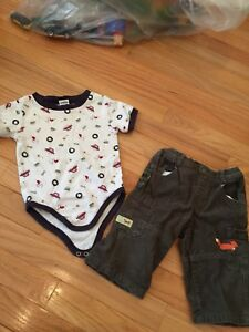 EUC Gymboree Baby Boy Outfit Onesie Corduroy Pants 6-12 months