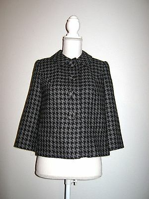 Style&Co Women's Petites Houndstooth Wool Blend Jacket Petite Size 4 P 4P
