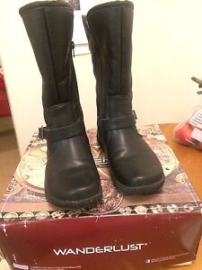 Mid calf boots - almost new