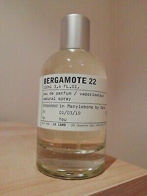 Le Labo BERGAMOTE 22 sample 10ml