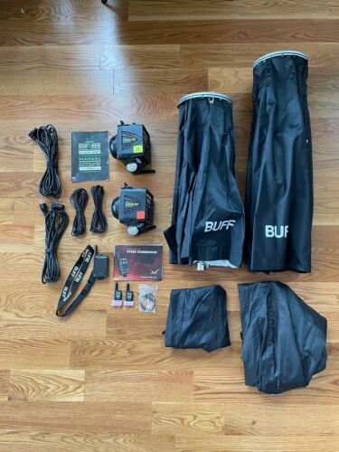 Two Paul C. Buff DigiBee 800 Flash Units + Wireless + Two Soft-boxes