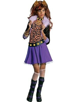 Child Toy Dolls Monster High Vampire Frankie Clawdeen Wolf Costume Size 4-6 - Monster High Vampire Costume