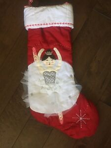 Pottery Barn Kids Ballerina Stocking