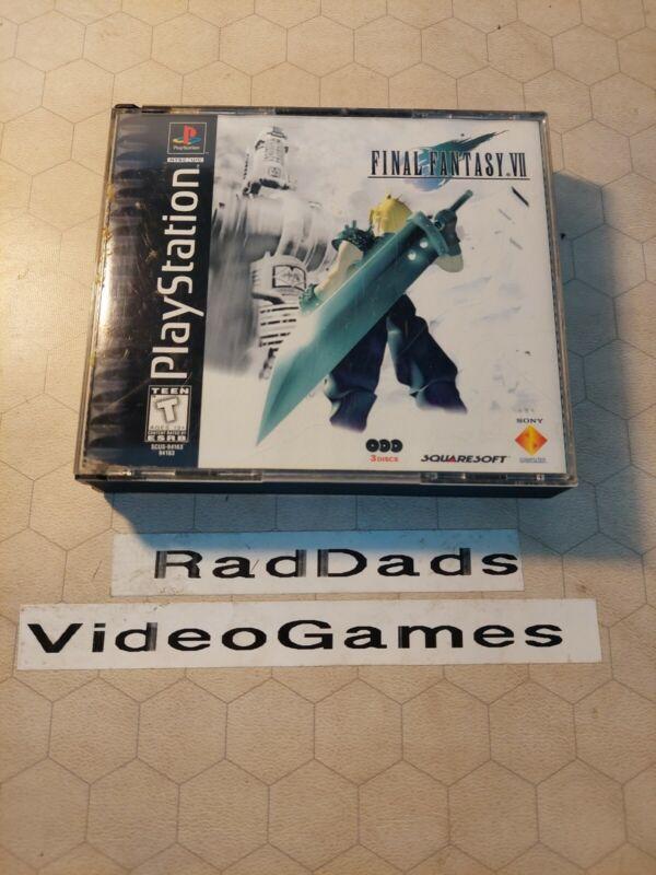 Final Fantasy VII (PlayStation 1, 1997) CIB Tested BLACK LABEL