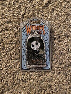 Disney WINDOWS OF MAGIC JACK SKELLINGTON PIN Nightmare Before Christmas LE 2000
