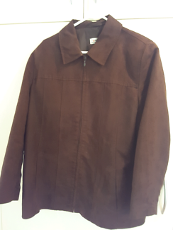 Target brand women's chocolate suede like jacket size 16
